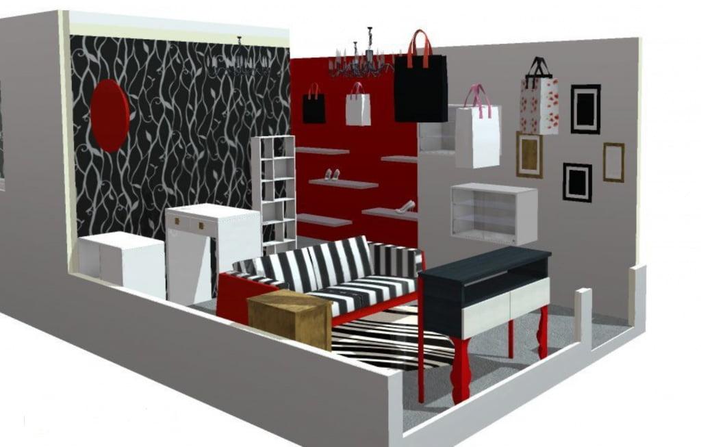 Boutique - Vue de côté - Avant-Projet n°1