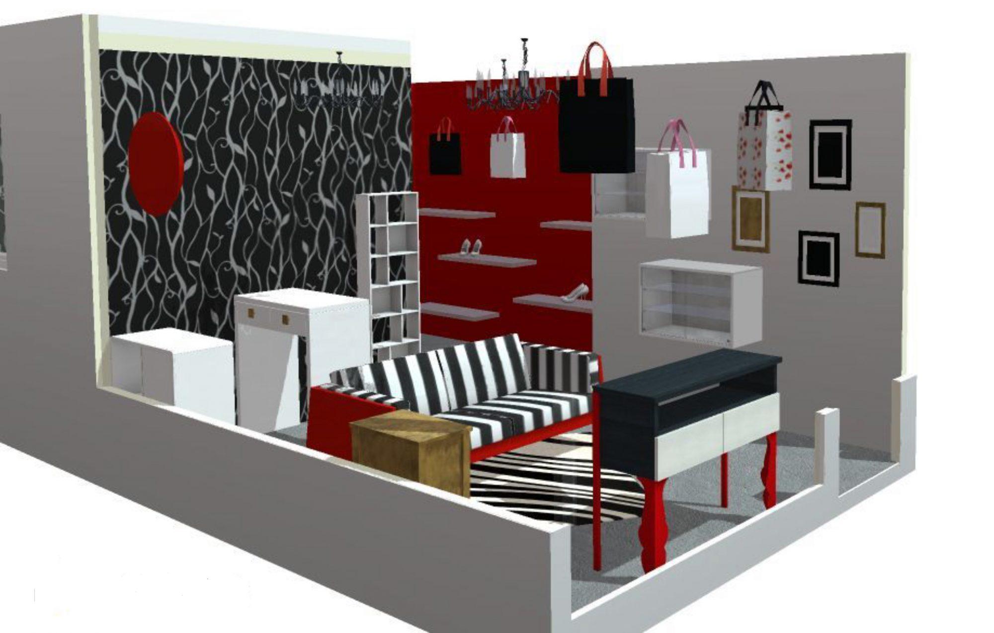 Boutique Beaucaire - 3D - Avant-Projet n°1