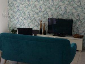 papier peint décoration salon