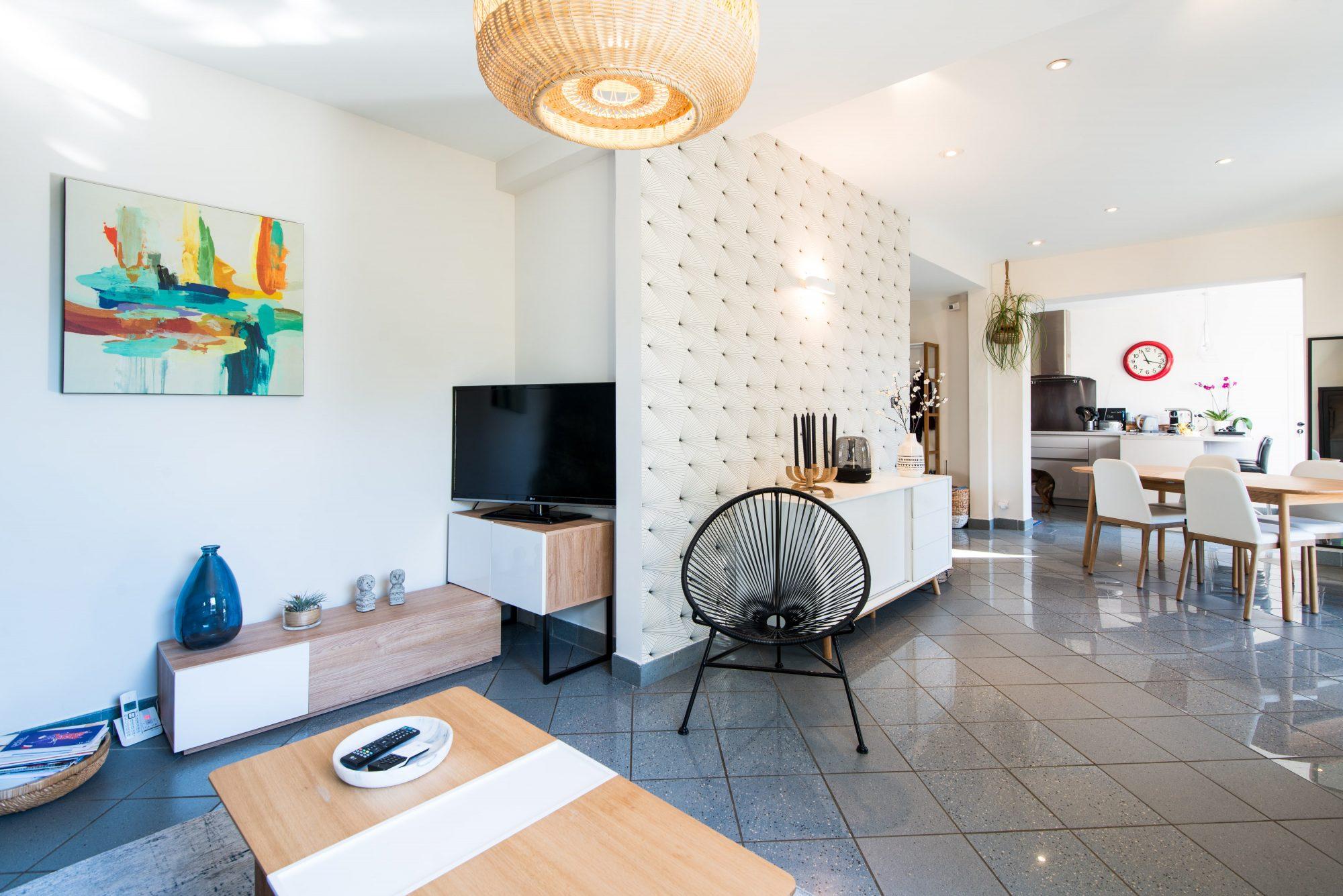 Décoration villa gardoise, Les Angles, salon