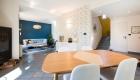 Décoration villa gardoise, Les Angles, vue globale entrée, séjour et salon