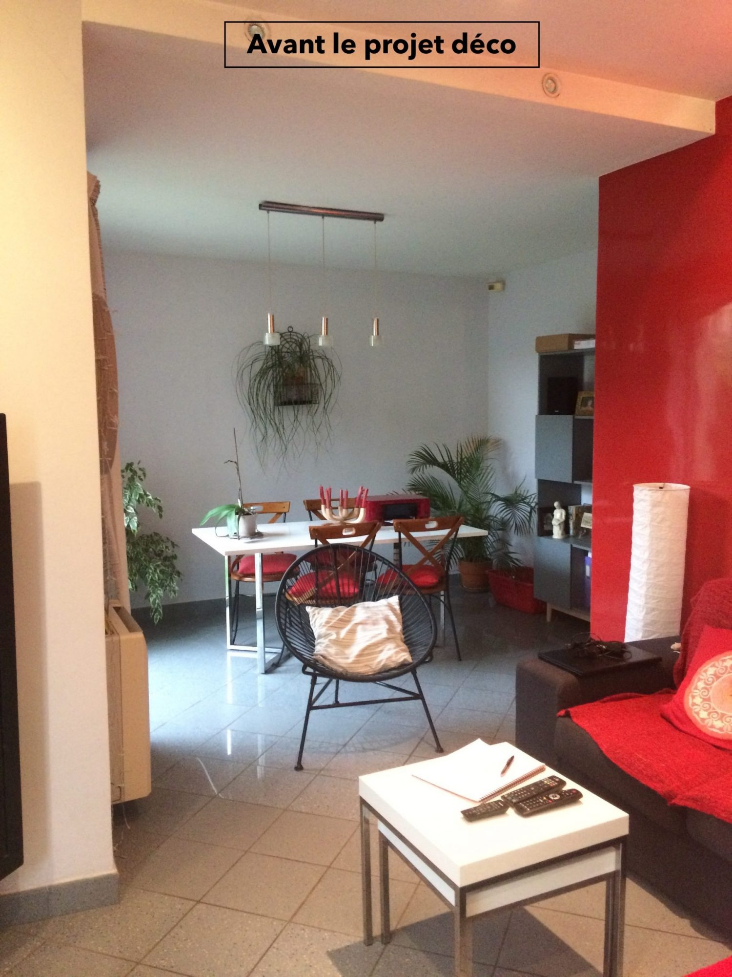 Nouveau look pour une villa gardoise, Les Angles, par Kty.L Décoratrice UFDI Avignon et Nîmes (30 et 84) : salon et séjour à l'origine