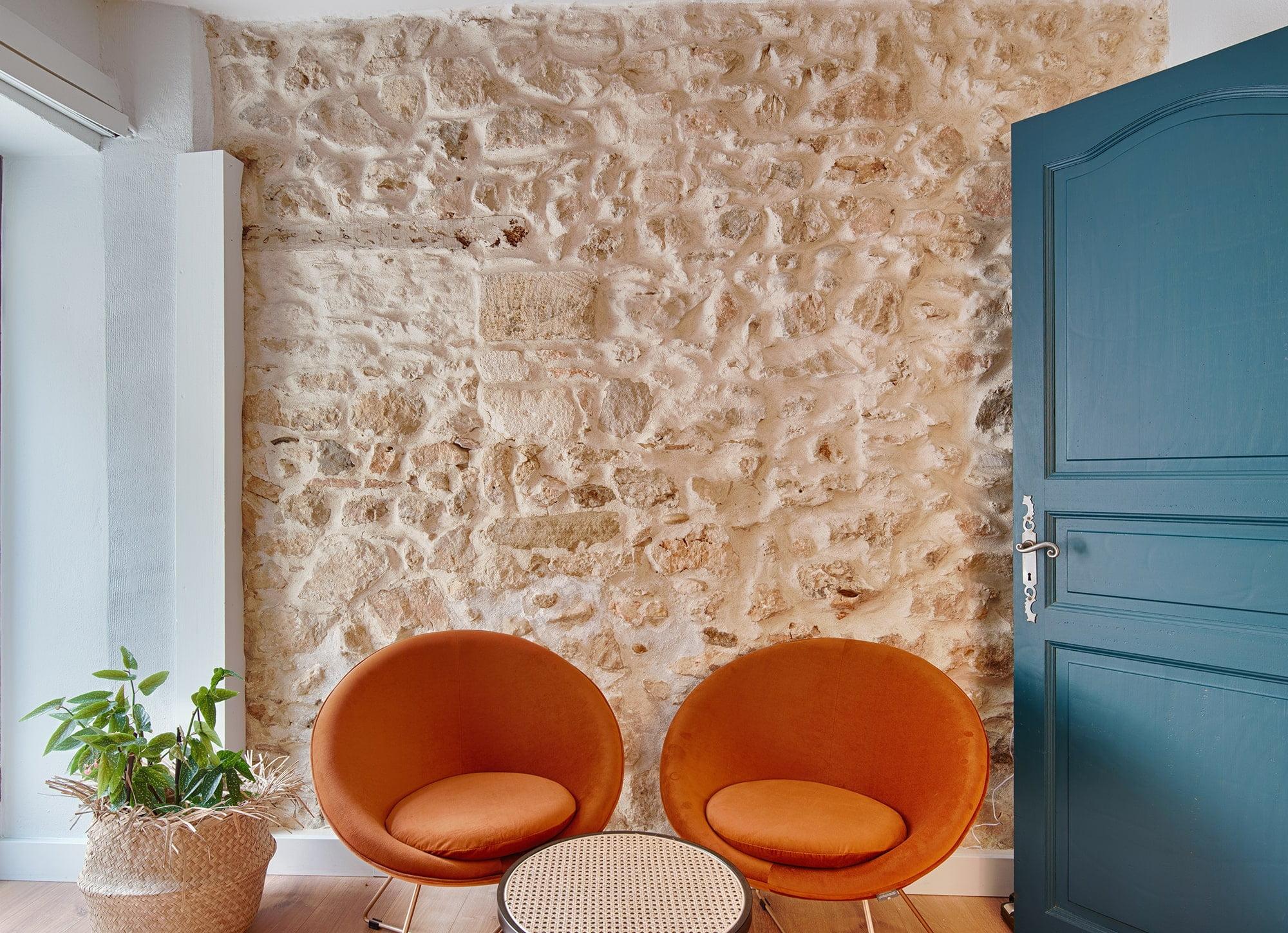 Décoration d'une agence immobiilière à Rochefort-du-Gard, par Kty.L Décoratrice, UFDI, Gard et Vaucluse : coin salon