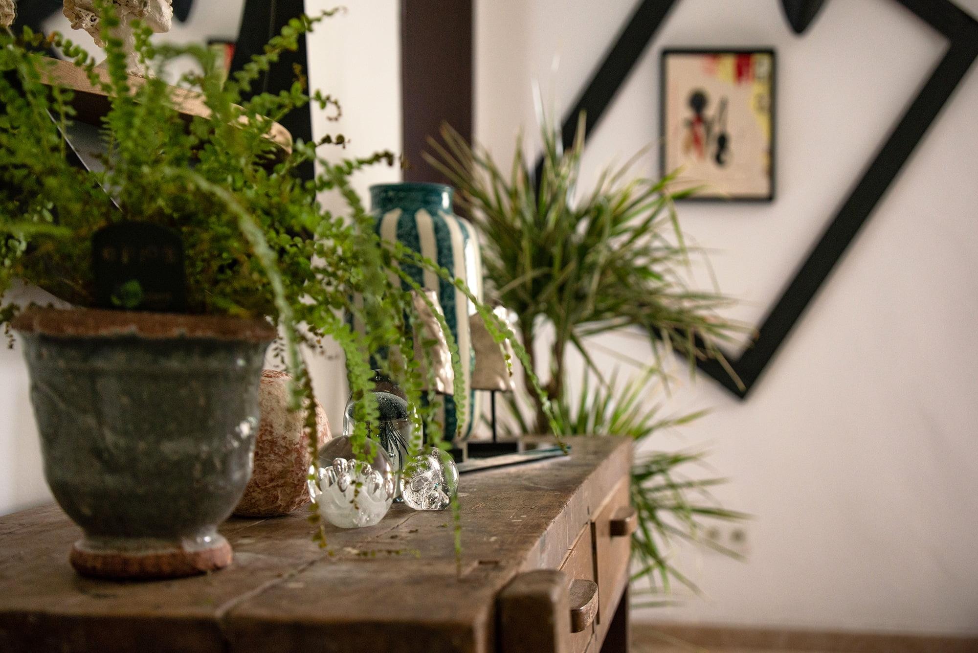 Rénovation et décoration d'un mas, à proximité de Avignon, par Kty.L Décoratrice d'intérieur : détail objet décoration et établi de récupération